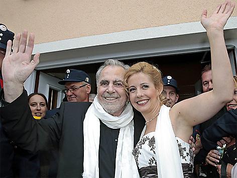 Heirat, Maximilian Schell und seine Lebensgefährtin Iva Mihanovic