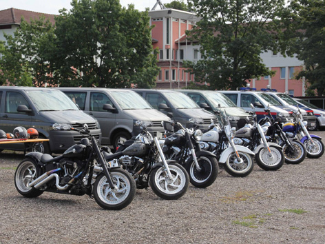 Sichergestellte Harleys